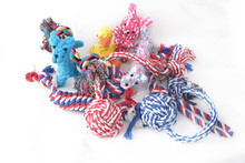 New pet products 2015 popular dog rope toy ball