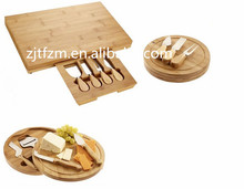 Naturaly & eco-friendly wooden cheese board with knife