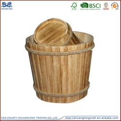 2015 hot sale China manufacturer natural wooden bucket bath set bath gift set