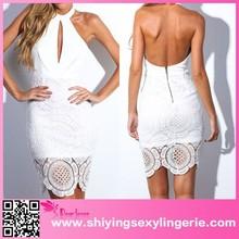 2015 Wholesale Backless Vintage white dress club