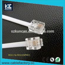 KUNCAN factory selling high quality roll rj11 telephone cable with molded PVC
