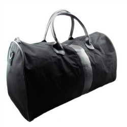 Fashion Leather Handle Long Style 600d Polyester Duffle Bag