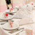 La mesa de la boda decoraciones mini-tejido de papel pom poms