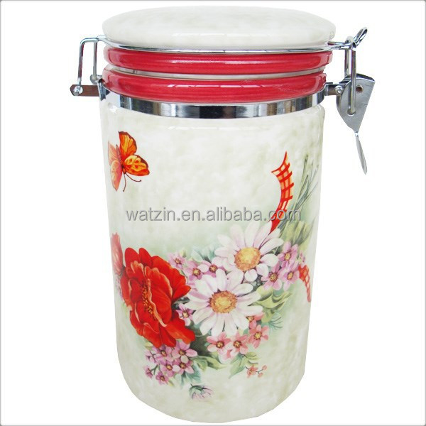 3 Sizes Of Ceramic Airtight Storage Jar Kitchen Canisters Buy Ceramic Kitchen Canisters