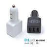 Mini 7.2A 3-Port USB Car Charger with Intelligent IC identify Technology for iPad