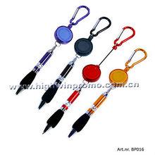 Retractable Ball Pen With Carabiner