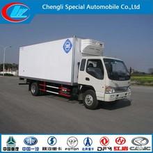 Top sale live fish transport truck 3 ton mini refrigerator cooling van high pipularity JAC mini refrigerated van for sale