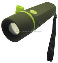 TE350 Hot Sale 1 Watt Dynamo Flashlight With Rechargeable Battery