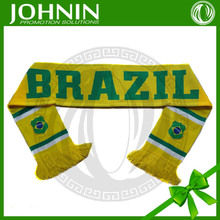 OEM top quality promotional hot sell 100% acrylic football fan scarf