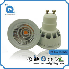 Newest arrival SMD 85-265V cob led spotlight gu10 8w