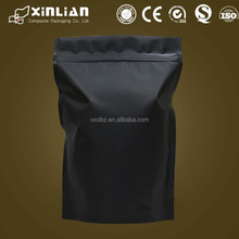 HOT!!! flat bottom stand up aluminum foil bag for coffee packaging/aluminum foil bag with ziplock