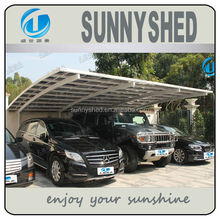 Double aluminum carports car shelter