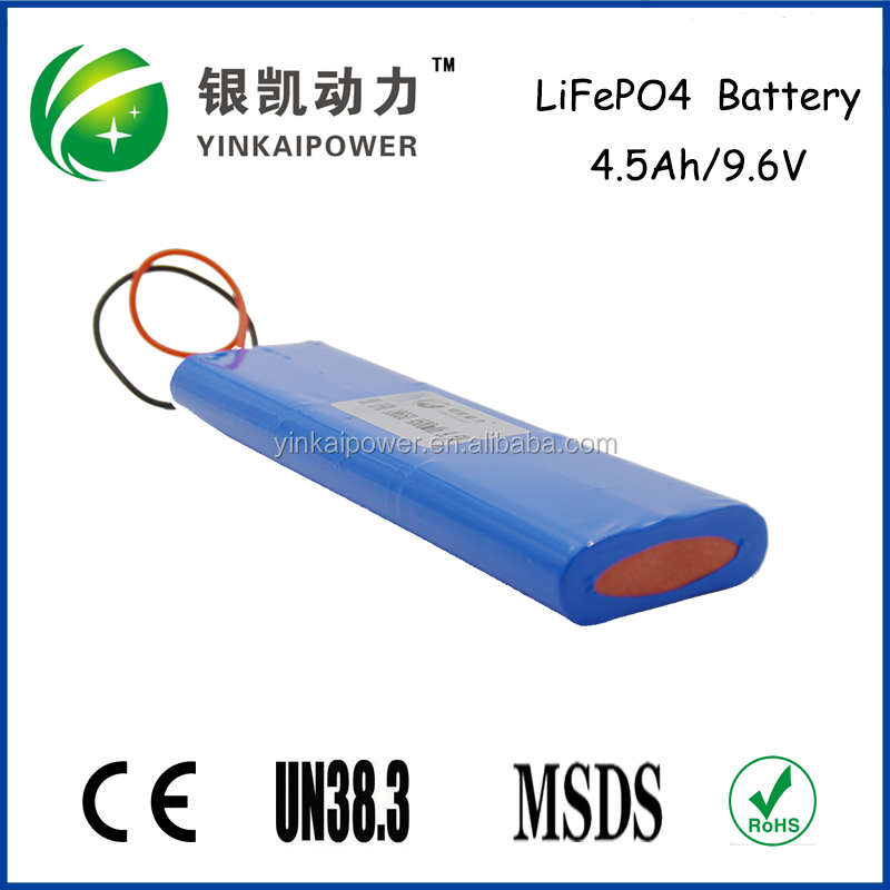 Led/lev 4.5AH IFR 9.6 v 4.5ah lifepo4 pil paketi için çin'de sıcak satış sokak ışık