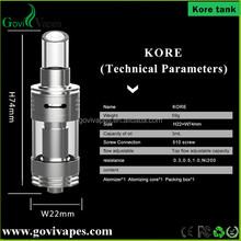 travel products 2015 Ecig Sub Ohm Kore Tank ni200 0 .3 /0.5/1.0 ohm Vaporizer Tank for vape mod box vaping