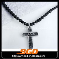 First class quality black beads necklace