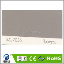Powder paint interior glossy smooth RAL7036 platinum grey