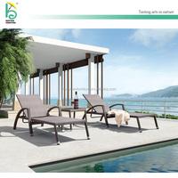 outdoor sun wicker lounger hotel beach lounge chair