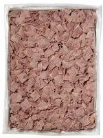 Cooked ham squares deep frozen