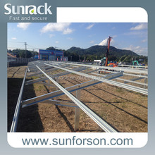 Solar power station pv panel mounting structures and brackets