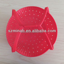 Mult-functional silicone vegetable/fruit basket/strainer/plate/colander steamer Mult basket with handle