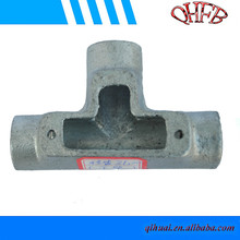 Electric T type pipe connector fitting with inspection hole
