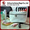Professional designer white PU makeup bags for women cute makeup bag