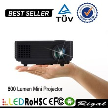 12V 1080P 800 Lumens Handy Projector Beam Projector Video Projector