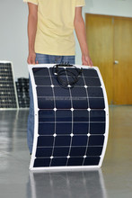 100W 12V Flexible solar panel for RV made in china