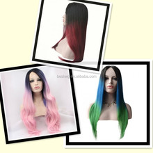 all color synthetic wig fashion new curly lace front wigs cheap long blonde wigs