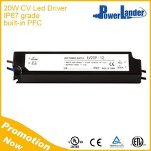 Built-in PFC 20W 12V CV Led Driver with CE UL Certificate