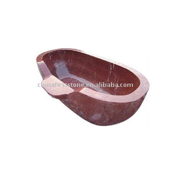 Usine En Gros de Haute qualité 180X85X60 cm Rouge Marbre Baignoire MVS024