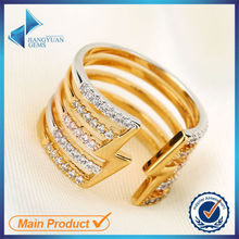 R0067 Fashion Gold Plated Solid Brass blank Colored Men Ring