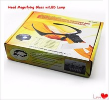 Head Magnifying Glass w/LED Lamp,Magnifying Glass Headset Head Headband Visor Magnifier