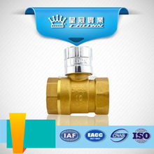 7004 high quality brass magnetic locking ball valve from China supplier