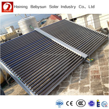 Galvanized steel Vacuum Tube solar water heater collector for swimming pool, hotel, school