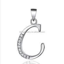 2015 hot sale pendant,alphabet c pendant for boys