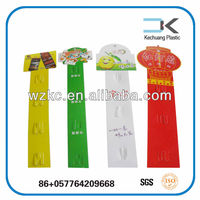 Colorful !! Customized Plastic hanging display merchandising clip strips