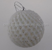 80MM New Design Christmas Ball With Fruit Net Cloth/ Outer & Inner Decoration
