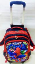 3D children rolling backpack/trolley bag for students