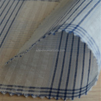 men's shirt fabric with high quality check and plain yarn dyed bubble fabric