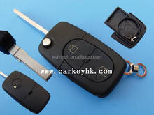 Volksvagen universal key fake car key VW remote all flip key 2 button cover case wholesale