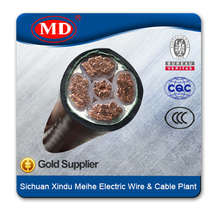 0.6/1kV Copper Conductor XLPE Insulation CU/XLPE/PVC 1~5 Core Power Cable