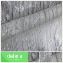 lurex cotton fabric stripe with embroidery