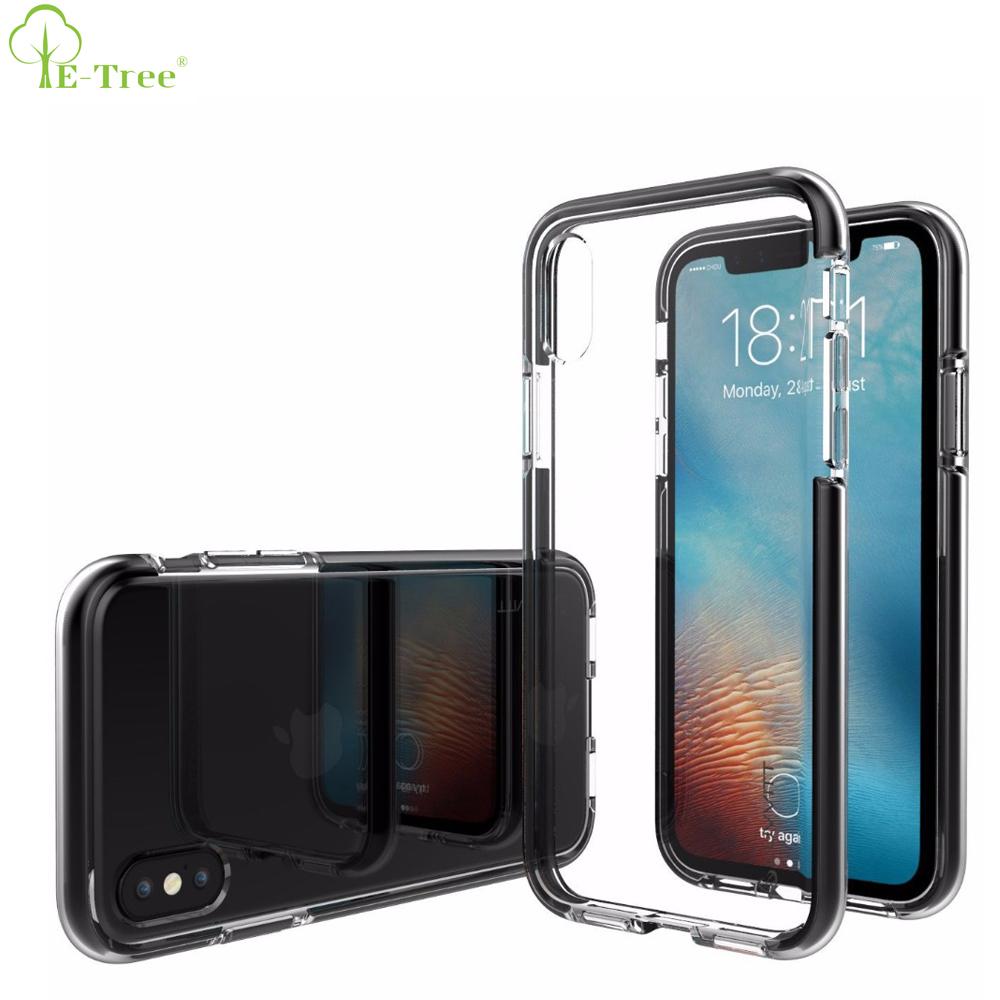 Iphone 5用× 10バックケース、クリスタルクリアソフトtpu tpe耐震電話ケース用iphone x