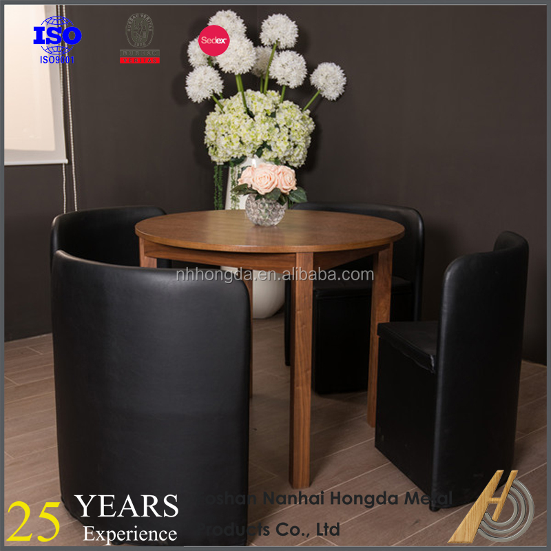 Hideaway Dining Table And 6 Chairs Black Glass Dining Room Table