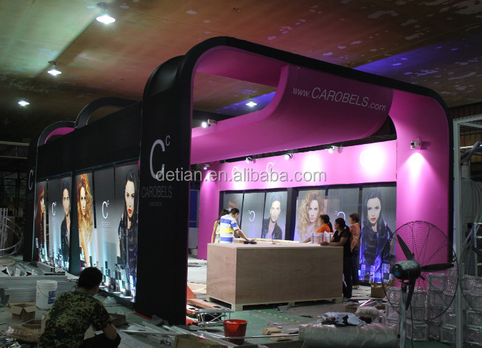 exhibition booth with used reception desk,trade show display table from Shanghai