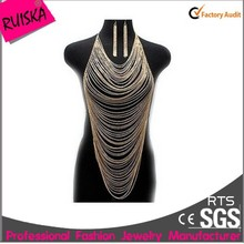 2015 New Arrival Multilayer Sexy Ladies Alloy Body Jewelry