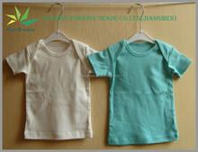 Stock Plain Color Stretch Cotton Children T shirt