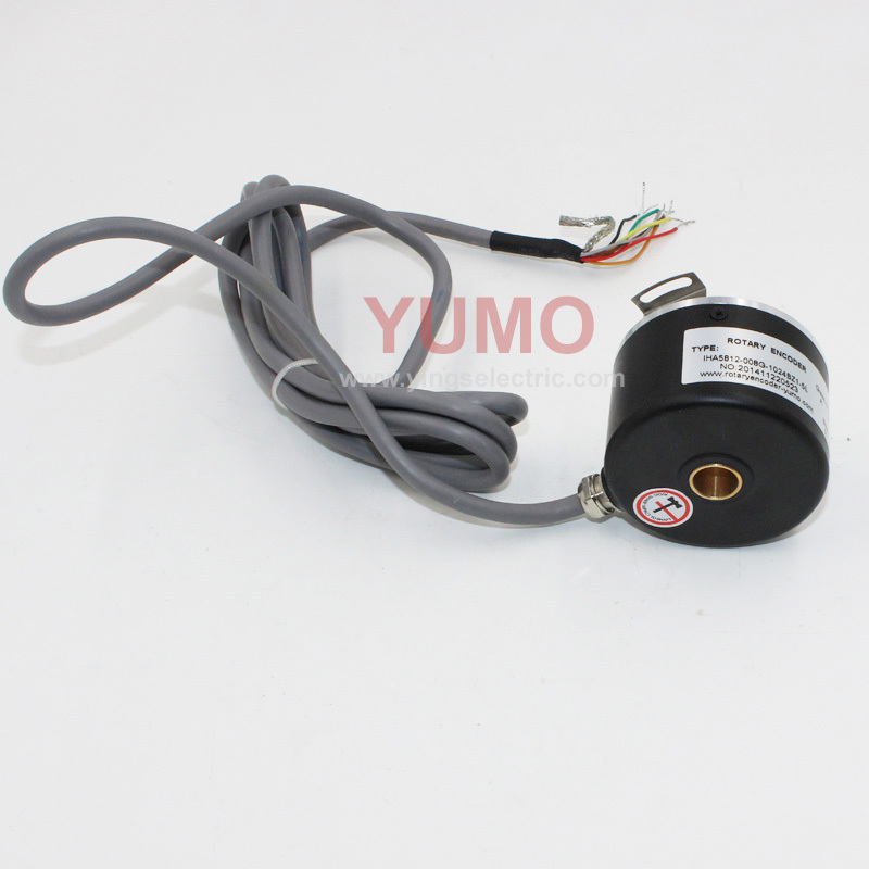 IHA5812 58mm hollow shaft 12mm 1024 pulse motor Embroidery Machine incremental weight sensor for Spinning machne