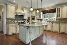 Diseño estilo Ruso de mueble de lujo en madera de color blanco para cocina
